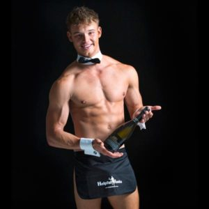 entertainment hens night male waiter helpful hunks