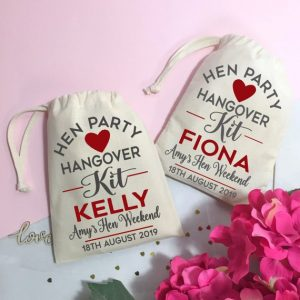 Helpful hunks hangover kits personalised party favours