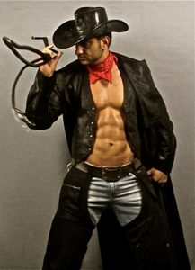 male stripper costume cowboy