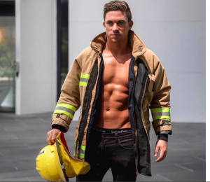 Helpful hunks male stripper firefighter